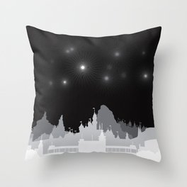 Fireworks at night. Throw Pillow