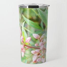 Pale Powder Pink Plant Travel Mug
