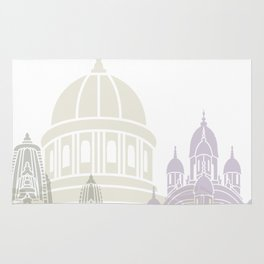 Kolkata skyline poster Rug