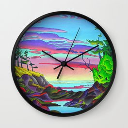 Pacific Pacific by Amanda Martinson Wall Clock
