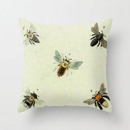 Bee Species Throw Pillow