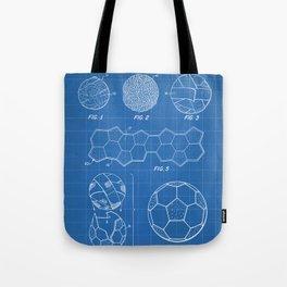 Soccer Ball Patent - Football Art - Blueprint Tote Bag