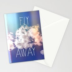 fly away in the sky Stationery Cards