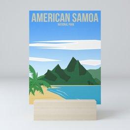 American Samoa National Park - Travel Poster -  Minimalist Art Print Mini Art Print