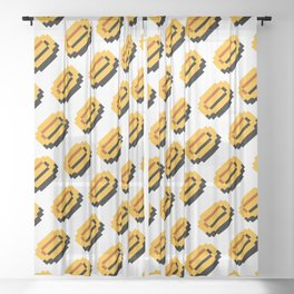 Coins pattern | from Super Mario Bros. | retrogaming Sheer Curtain