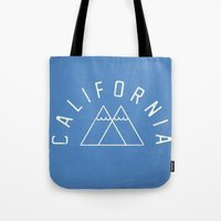 california Tote Bags featuring California by Roland Lefox