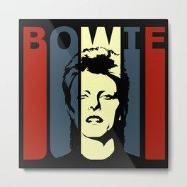 David Bowie Retro Homage Metal Print