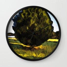 Tree of Green in the Morning Sun Wall Clock