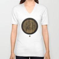 skyrim V-neck T-shirts featuring Shield's of Skyrim - Whiterun by VineDesign