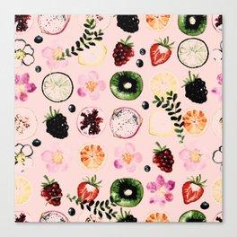 Fruit festival pattern Canvas Print