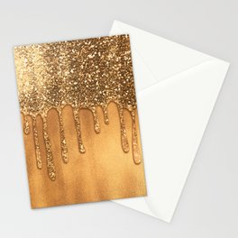 Dripping in Gold Honey Glitter Stationery Cards