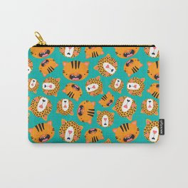 Happy Jungle Kitties Carry-All Pouch
