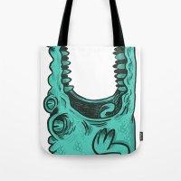 crocodile Tote Bags featuring Crocodile! by andres lozano