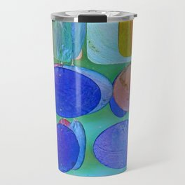 Circles & Squares Pattern I Travel Mug