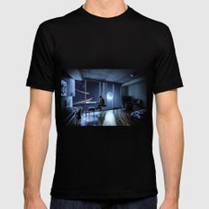 And then I sat quietly and watched them coming MEDIUM Mens Fitted Tee Black