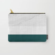 Marble And Teal Carry-All Pouch