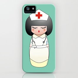 Kokeshi Nurse iPhone Case