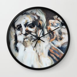 Old Men and Their Demons Wall Clock