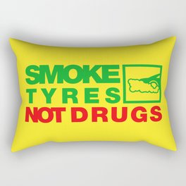 SMOKE TYRES NOT DRUGS v1 HQvector Rectangular Pillow