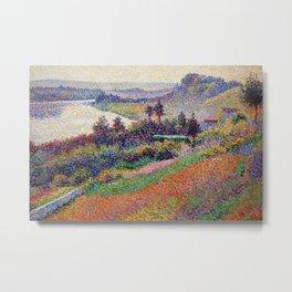 "Gorgeous French Countryside Landscape ""La Senna"" by Maximilien Luce, 1890 Metal Print"