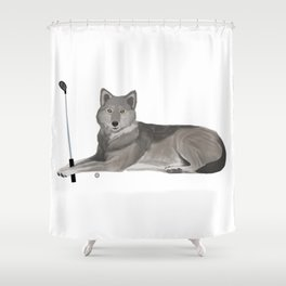Golf Wolf Shower Curtain
