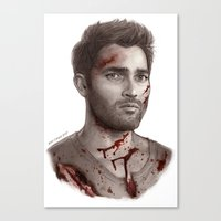 derek hale Canvas Prints featuring Derek Hale by maichan
