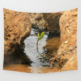 Sapling in the Ocean Wall Tapestry