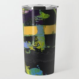 Controversy Prince Deep Purple Abstract Painting Modern Art Travel Mug