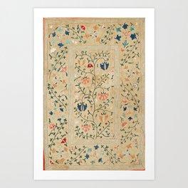 Uzbekistan Suzani Nim Embroidery Print Art Print
