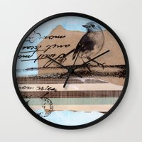 birdy Wall Clocks featuring Birdy by zAcheR-fineT