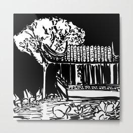 Chinese Garden Metal Print
