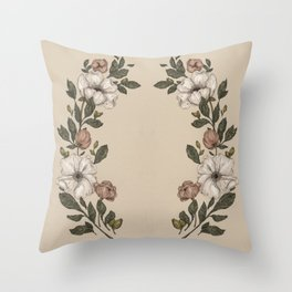 Floral Laurel Throw Pillow