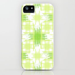 Intersecting Lines Pattern Design iPhone Case