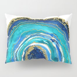 True beauty, watercolor geode illustration Pillow Sham