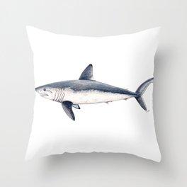 Porbeagle shark (Lamna nasus) Throw Pillow