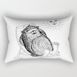 Mega Monster Sunbath BW Rectangular Pillow