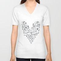 bonjour V-neck T-shirts featuring Bonjour by oh, sensation!