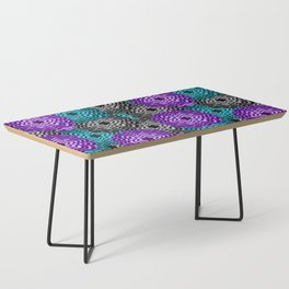 Dahlia Multicolored Floral Abstract Pattern Coffee Table