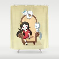 princess Shower Curtains featuring Princess by Freeminds
