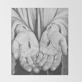 Jesus Hands Throw Blanket