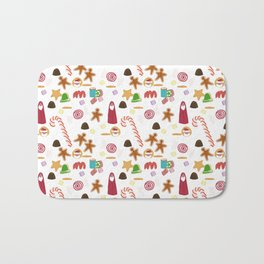Christmas Sweeties Candies, Peppermints, Candy Canes and Chocolates Bath Mat