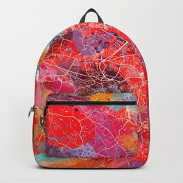 Athens map Georgia painting square 2 Backpack