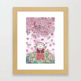 There is spring in my heart Framed Art Print