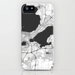 Madison Map Gray iPhone Case