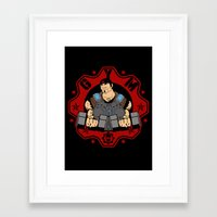 gym Framed Art Prints featuring GoW Gym by Buby87