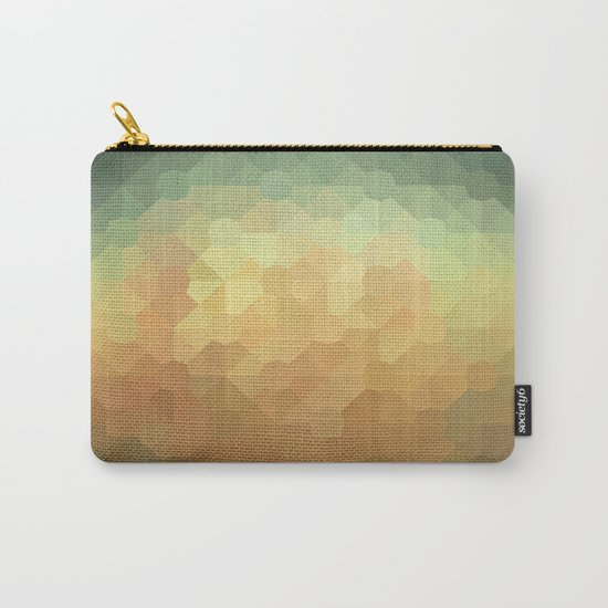 Nature's Glowing Geometric Abstract Carry-All Pouch