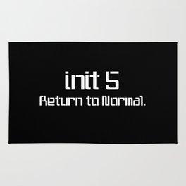 init 5 (white) Rug