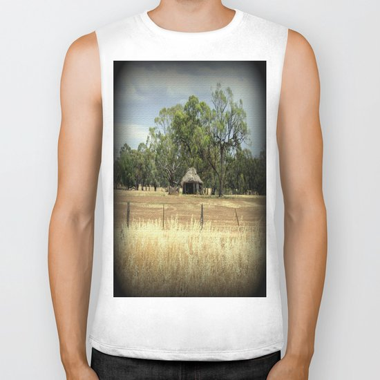 Mid 1800s Thatched Barn Biker Tank