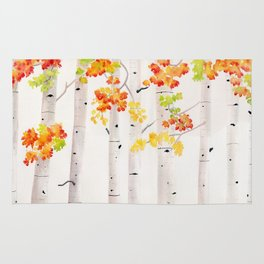 Autumn Birch Song Rug