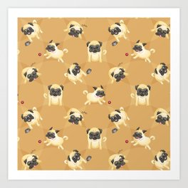 Pug Life (Pattern) Art Print